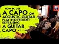 Download How to Use a Capo on Acoustic Guitar - Play in Different keys Using a Guitar Capo MP3 song and Music Video