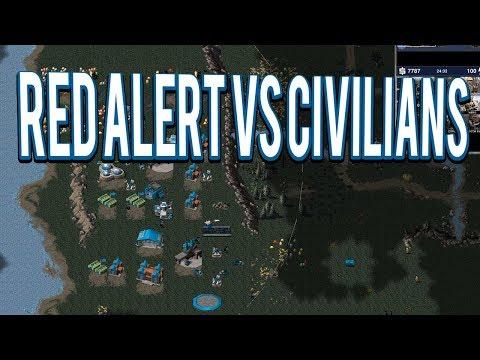 CIVILIANS VS RED ALERT - OpenRA  Mod