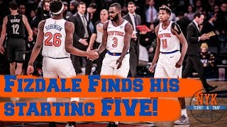 Fizdale Finds his Starting FIVE | Knicks Beat Nets and Frank Ntilikina continues to Impress!