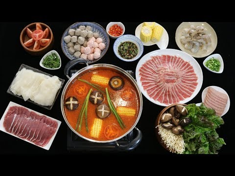 How To Make Chinese Hot Pot (Non Spicy Tomato Flavor Base)