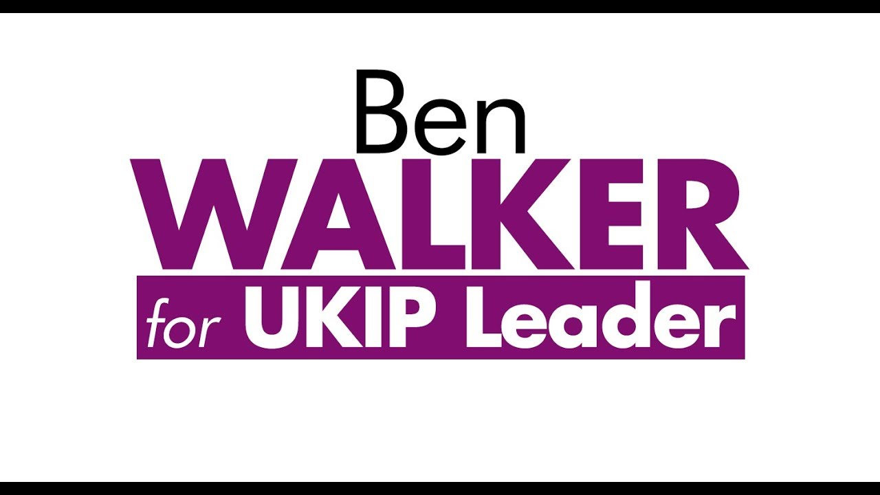Ben Walker - UKIP Leadership Announcement 2019