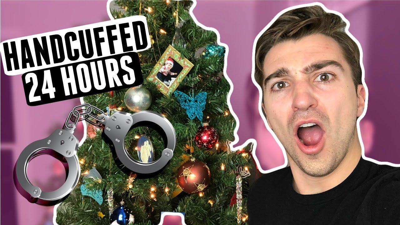 24 Hours Handcuffed To A Christmas Tree Ft React Cast Youtube