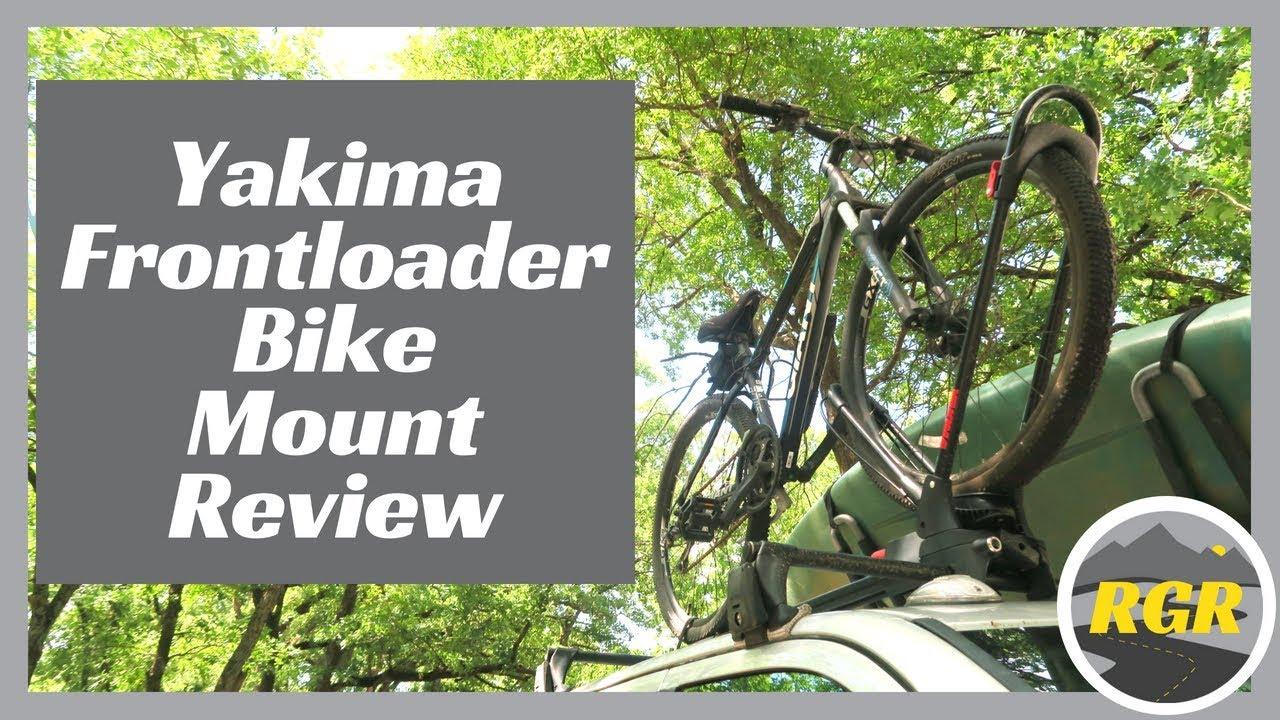 yakima frontloader bike mount rack review rv bike carrier solution