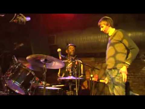 Tony Allen teaches Tim Jonze how to drum Afrobeat