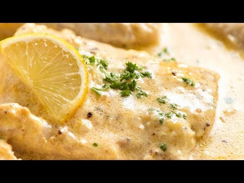 Baked Fish With Creamy Lemon Sauce