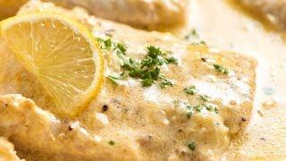 Baked Fish with Creamy Lemon Sauce