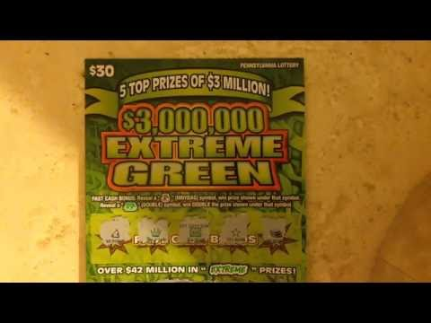 1,000 Subscriber Giveaway Challenge Question Winner - $30 Extreme Green- PA Lottery