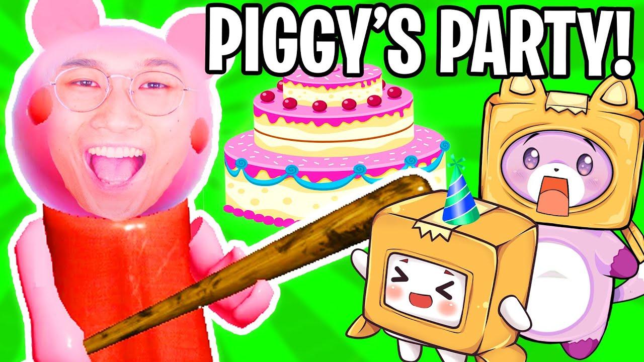 FOXY & BOXY MAKE A PIGGY CAKE FOR PIGGY'S PARTY! (LankyBox Adventure)