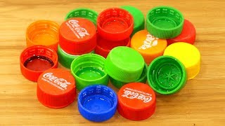 plastic bottle caps craft idea | best out of waste | plastic bottle caps reuse idea