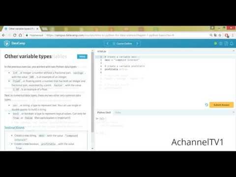 DataCamp - Python Basics Answers Learn Python Video - YouTube