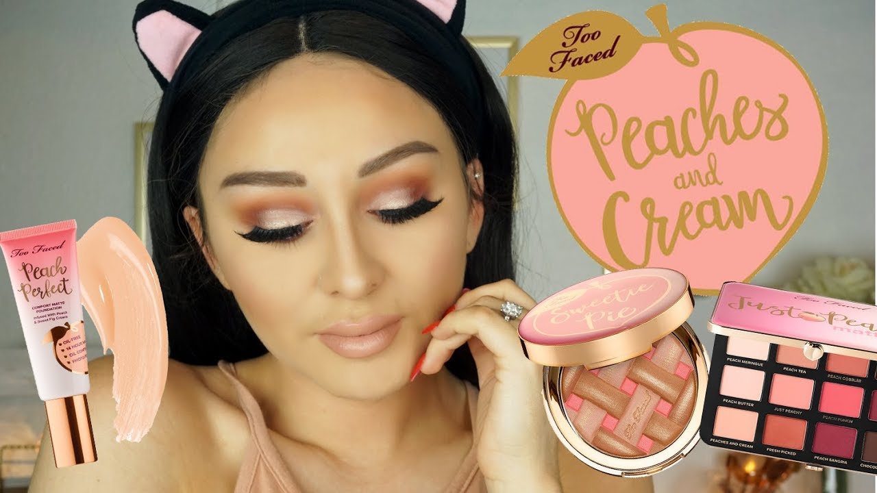 Too Faced Peaches & Cream collection | TUTORIAL SWATCHES REVIEW
