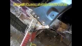 ваз2110  Замена телевизора. Кузовной ремонт