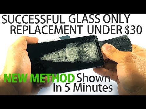 How to Replace Screen Glass Only on Galaxy S8 S9 Plus Shown in 5 Mins/New Method
