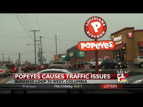 Popeyes opens its first store in Columbia, causes traffic delays