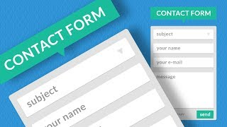 Photoshop CC Tutorial - Flat Design Contact Form (Interface)