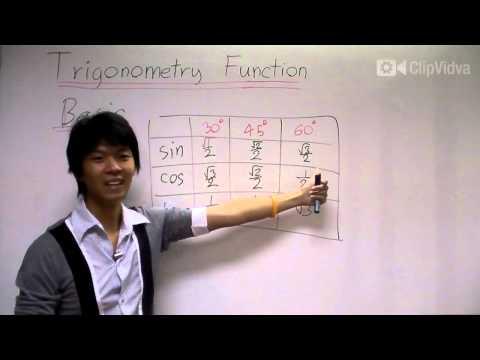 [clipvidva] Trigonometric Functions ฟังก์ชันตรีโกณมิติ Part1/9