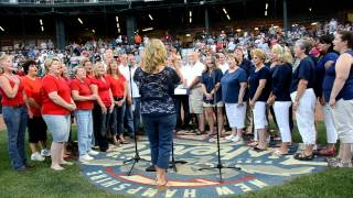 Rock Church Ministries Performing National Anthem @ Fisher Cats Game