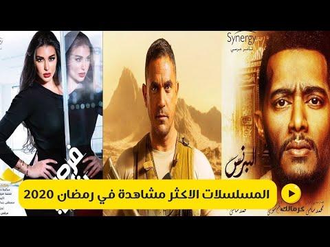 المسلسلات الأكثر مشاهدة في رمضان 2020 Youtube