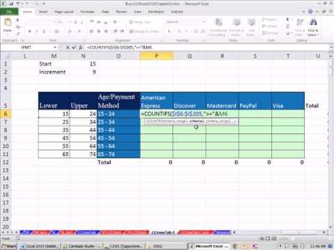 cross tabulation excel  Excel 2010 Statistics #22: Cross Tabulation With Formulas - YouTube