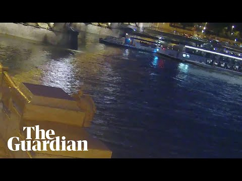 Budapest boat crash: police release footage of moment boats collided