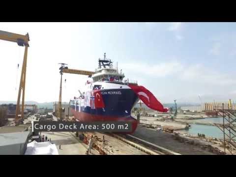Cemre Shipyard  NB36 Ocean Mermaid  Launching 150907