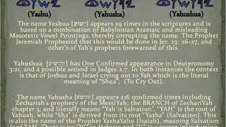 Confusion of Yeshua, or Yahushua, or Yahusha ? | Yasharun | DeafVIDEO TV
