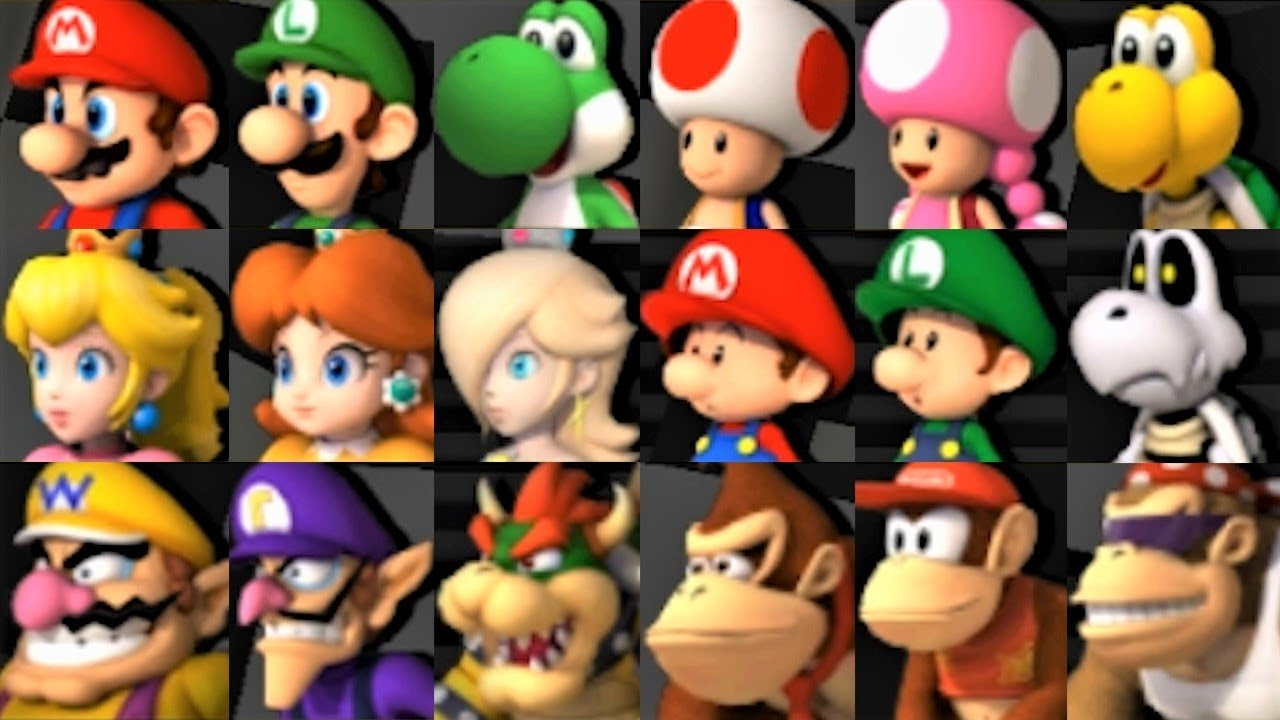 Mario Kart Wii All Characters Youtube