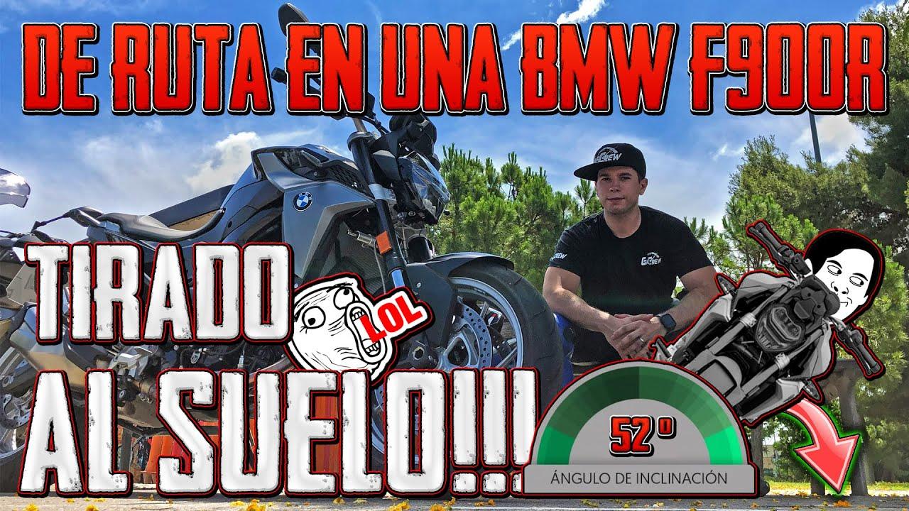 DE RUTA A MAS DE 50º DE INCLINACION EN UNA BMW F900R
