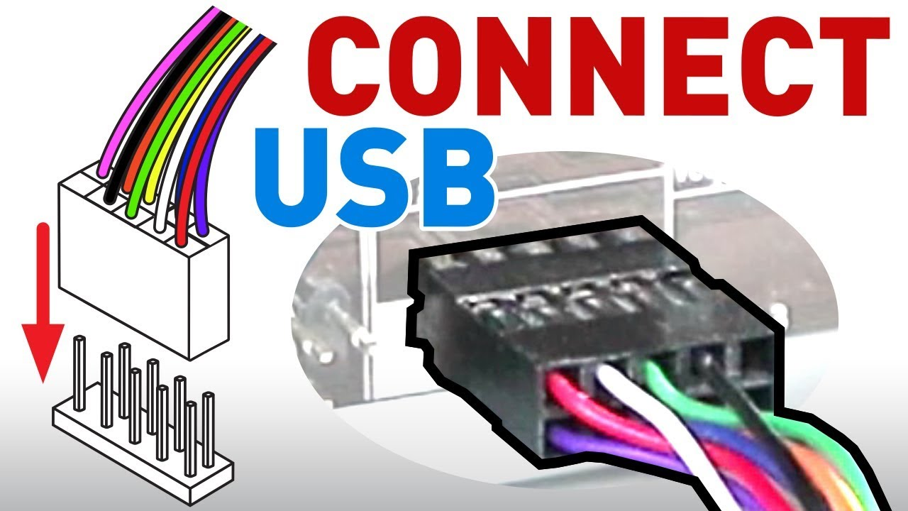 how to connect the usb front panel to your motherboard youtube usb front panel wiring diagram usb front panel wiring diagram [ 1280 x 720 Pixel ]
