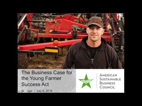 The Business Case for the Young Farmers Success Act