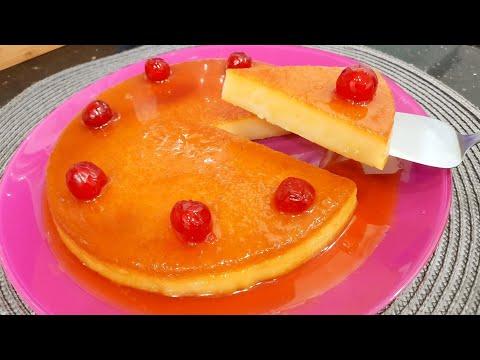مطبخ ام وليد بنصف لتر حليب فقط جهزي احلى فلان كرامال بدون بيض بنين روعة .