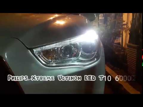 philips xtreme ultinon led t10 6000k lumina auto youtube. Black Bedroom Furniture Sets. Home Design Ideas