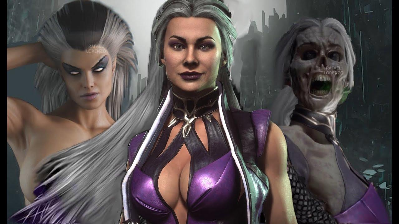 Mortal Kombat Sindel Evolution Skins Costume Mk3 Mk11 Mortal