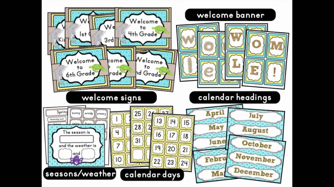 Beach Theme Classroom Decor Kit Youtube