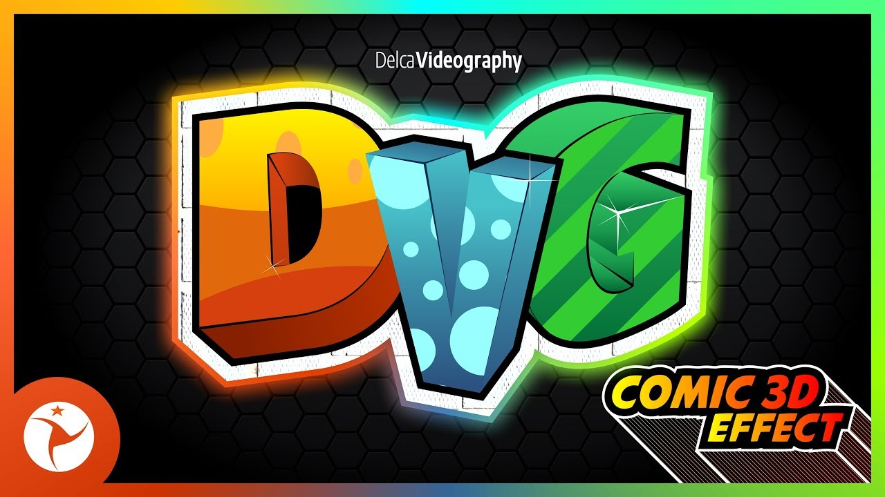 how to draw 3d effect letters