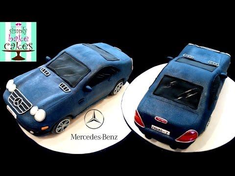 MERCEDES BENZ birthday cake YouTube