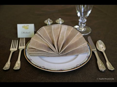 Napkin Folding Fancy Fan YouTube