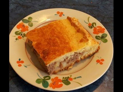 #Пирог с мясным фаршем и картошкой. #Видеорецепт.