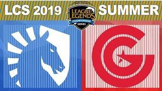 TL vs CG, Game 1 - LCS 2019 Summer Playoffs Semifinals - Liquid vs Clutch Gaming G1