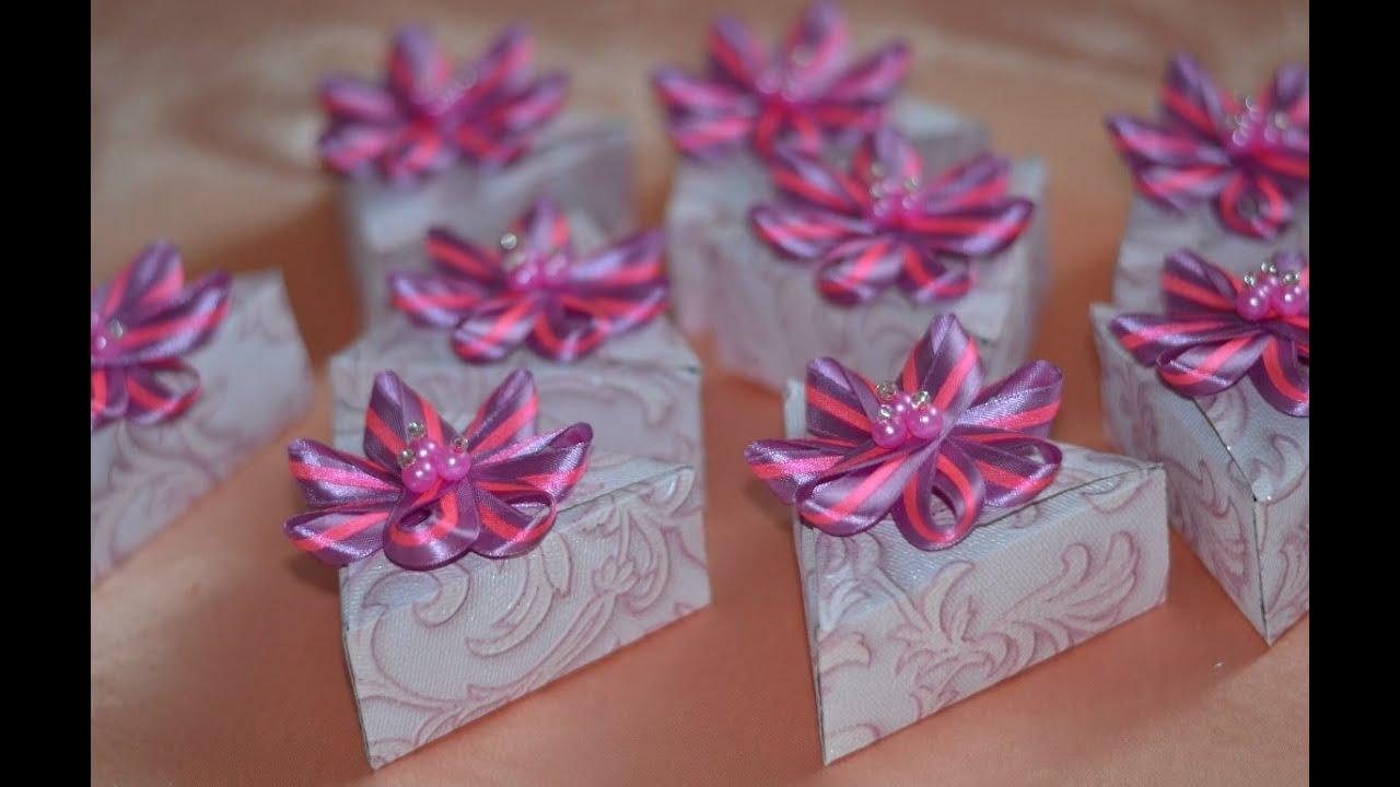 схема бонбоньерки в виде конфеты