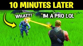 I Pretended To Be A NOOB, Then DESTROYED Him.. (Fortnite) thumbnail