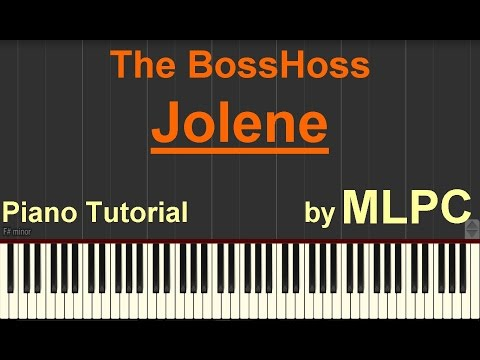 The BossHoss - Jolene I Piano Tutorial by MLPC