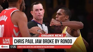 Wow!!! CHRIS PAUL GETS PUNCHED BY RONDO!!!