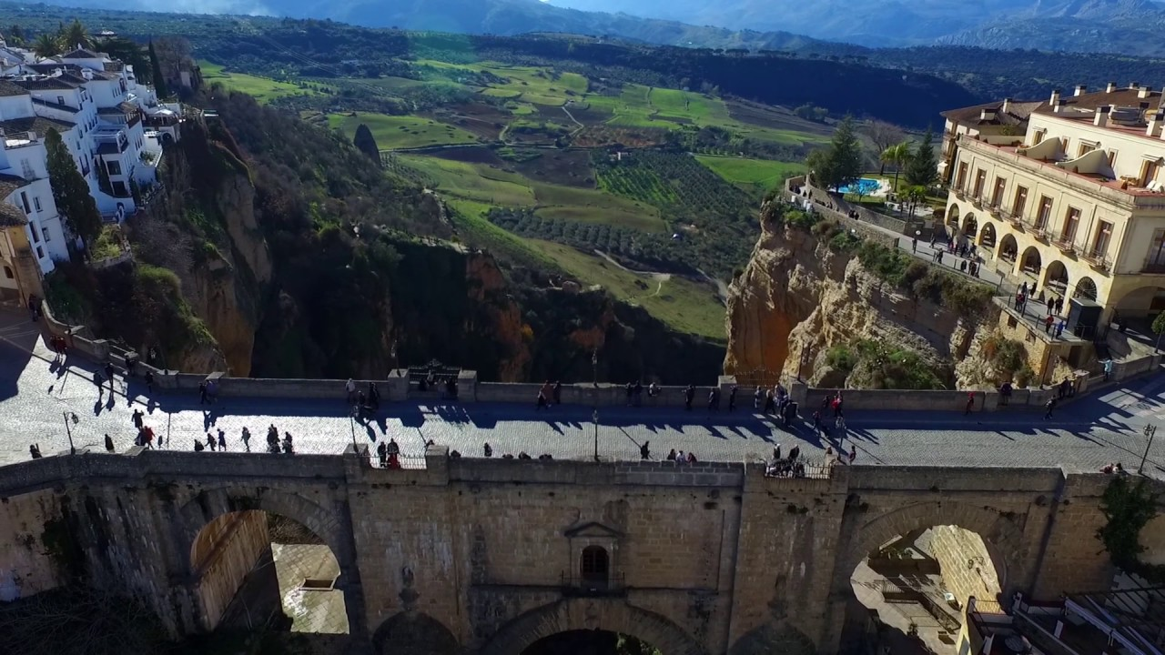 Puente Nuevo Ronda Andalusia Spain Malaga Fullhd Filmed