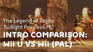 The Legend of Zelda: Twilight Princess HD - Intro comparison (Wii U vs. Wii PAL)