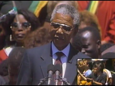 Nelson Mandela - South African National Anthem - 6/30/1990 - Oakland Coliseum Stadium (Official)