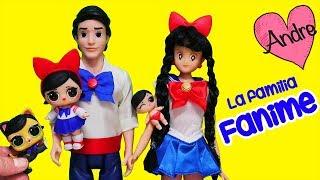 La familia LOL Fanime es como Sailor Moon!!! Juguetes con Andre jugando muñecas L.O.L.