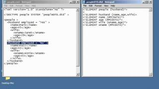 XML Tutorial   28 Attributes In DTD Schema