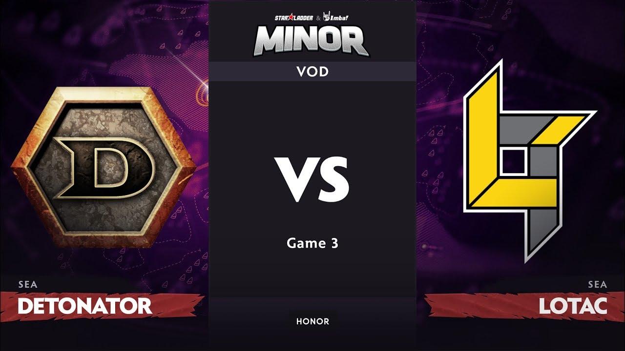 [RU] DeToNator vs Lotac, Game 3, SEA Qualifier, StarLadder ImbaTV Dota 2 Minor