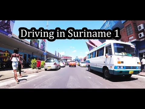 2017 - Driving in Suriname (1/2) - Going to Fort Nieuw Amsterdam